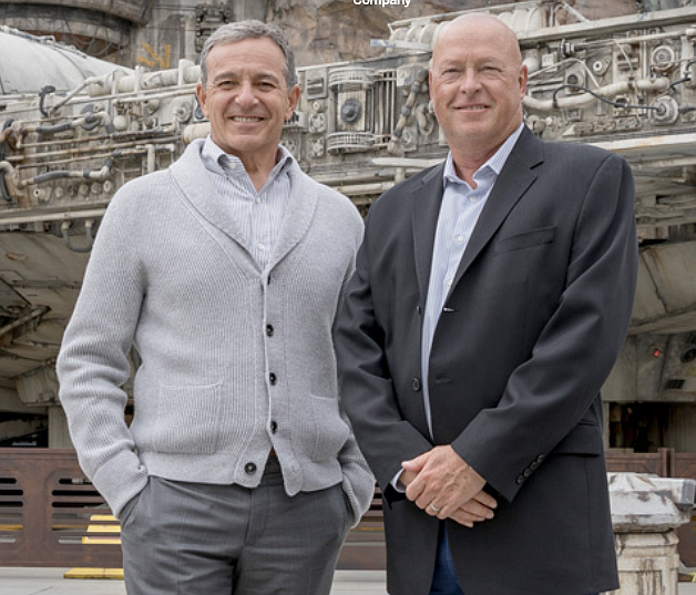 Disney's Robert Iger, left, and Robert Chapek.