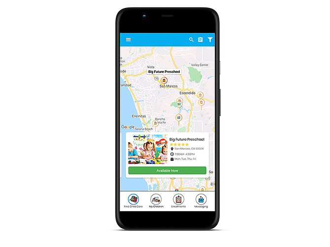 Photo courtesy of TOOTRiS. TOOTRiS enables real-time enrollment of quality child care based on specific location, schedule and budgetary requirements on a pay-as-you-go basis.