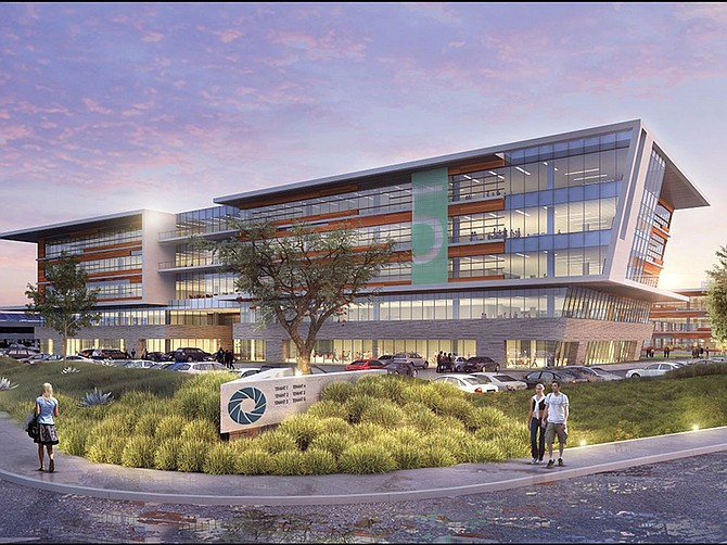 Photo courtesy of Lincoln Property Company. Construction has started on the Aperture office complex in Del Mar Heights with an eye toward drawing a company's corporate or regional headquarters to San Diego.