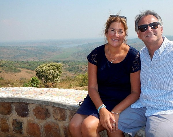 Julie and Fram Virjee in Rwanda