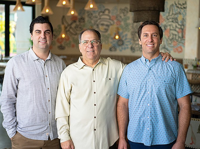 Photo courtesy of Carte Blanche Bistro & Bar.  Chuck Ross, Ryan, right and Brandon's dad and also a local restaurateur, said he couldn't be prouder of his sons' culinary career choices.