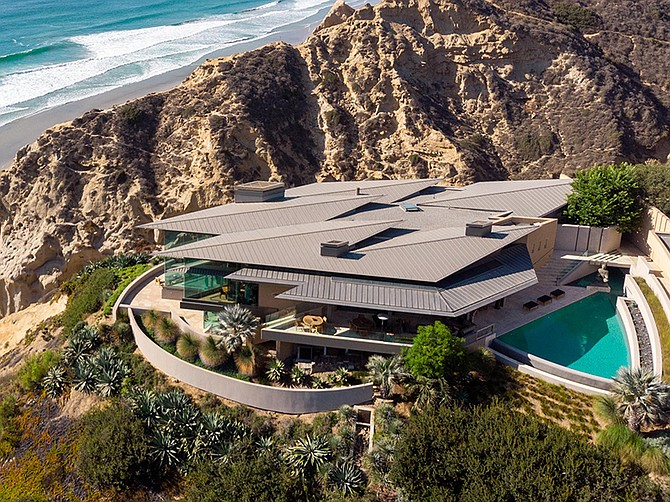 Photo courtesy of Pacific Sotheby's International Realty. This cliffside home in La Jolla sold for $15.25 million, placing it among San Diego's most expensive property sales.
