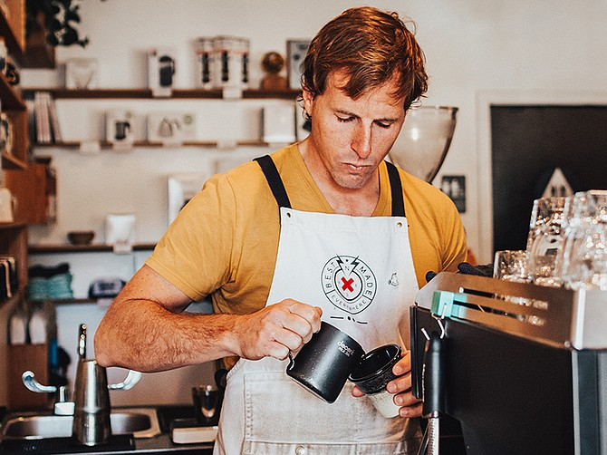 Photo courtesy of California Roasting Collective . In 2018, Elliot Reinecke opened California Roasting Collective, a coffee production rental space located in San Marcos.