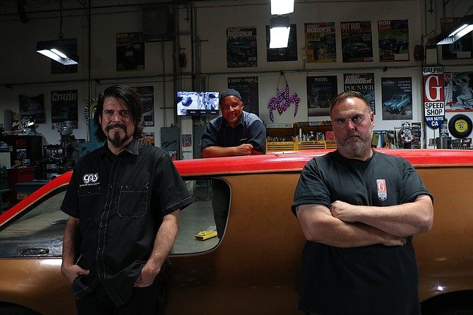 'Driven' cast members, from left, Beau Boeckmann, 'Mad Mike' Martin and Dave Shuten in North Hills.