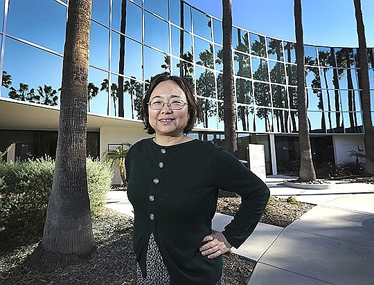 Hong Cai, the CEO of Mesa Biotech, at the company's headquarters in San Diego. File photo by Jamie Scott Lytle