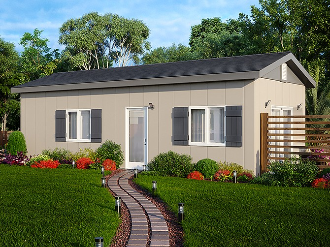 Photo courtesy of  McCain Homes by McCain Manufacturing. These modular homes are assembled on site. McCain Homes has found most of its current business from those wishing to add a granny flat to their property.