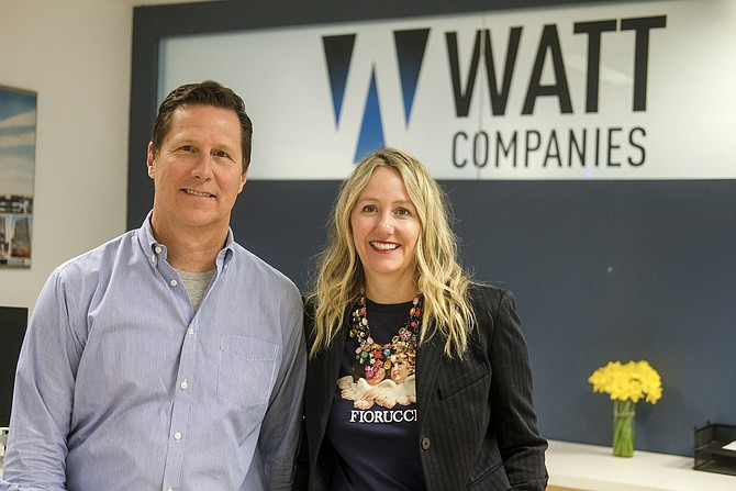 Nadine Watt, CEO, and John Devereux, president, Watt Cos.