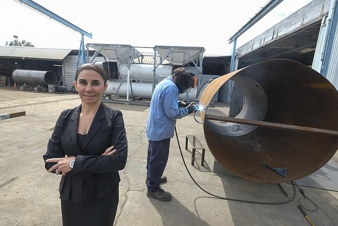 Anoosheh Oskouian, co-founder of Ship & Shore Environmental. (Photo by Ringo Chiu).