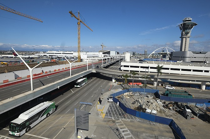 Los Angeles International Airport has had sharp drop in passenger traffic due to the coronavirus pandemic.