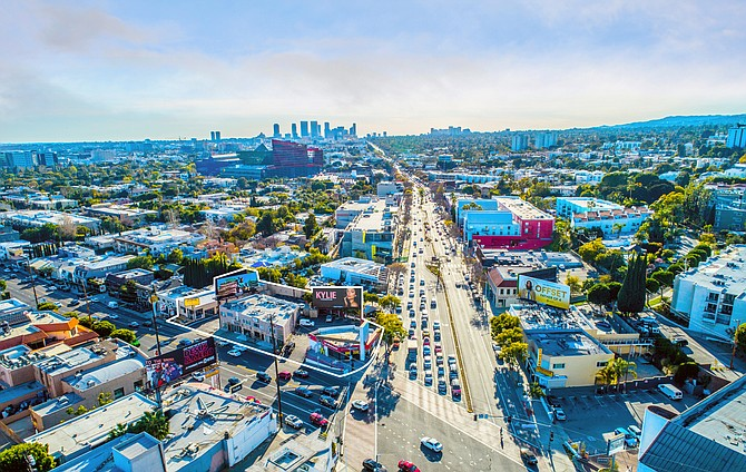 A West Hollywood property at the corner of Santa Monica and La Cienega boulevards sold for $23 million.