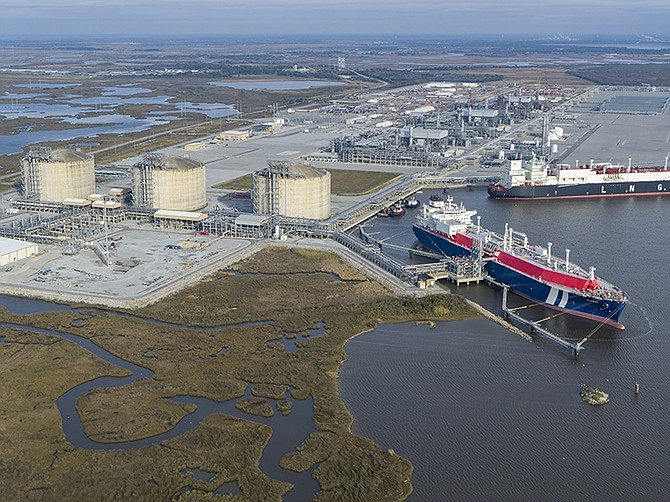 Photo courtesy of Sempra. Sempra's cameron liquified natural gas terminal in Louisianna.