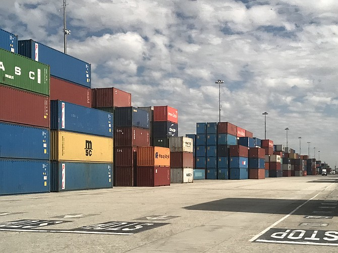 The trade war and the pandemic caused a drop in cargo volume at the Port of L.A.
