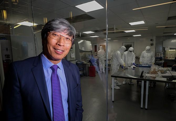 Biomedical entrepreneur Dr. Patrick Soon-Shiong, at the Nant headquarters, is looking to tackle the coronavirus crisis.