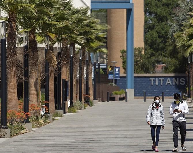 CSUF campus under the coronavirus
