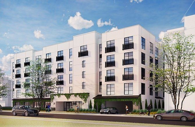 A rendering of Panorama Group's senior project in Mid-City, which is expected to open in 2022.