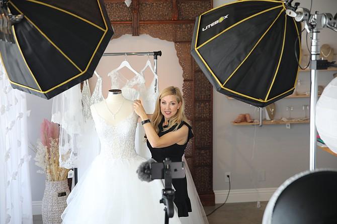 Cindy Carvel shifted her Torrance bridal business online.