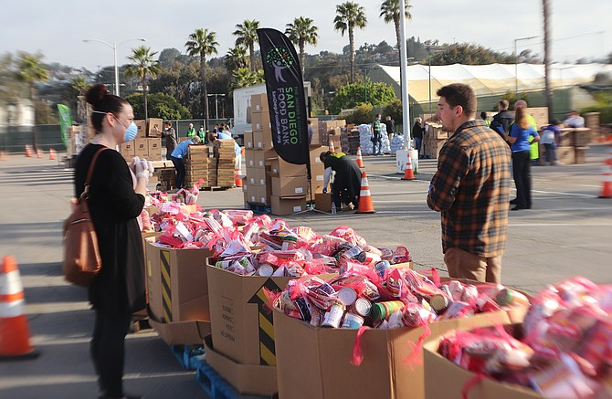 Photo courtesy of Jacobs & Cushman San Diego Food Bank. In the last eight weeks, The Jacobs & Cushman San Diego Food Bank has bought $2 million dollars-worth, with another million-dollar purchase already in the works.