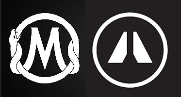 Mamba Sports Academy logo, left, with former and current Sports Academy logo.
