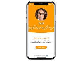 Photo courtesy of Gali Health. Gali provides an AI-based health assistance.