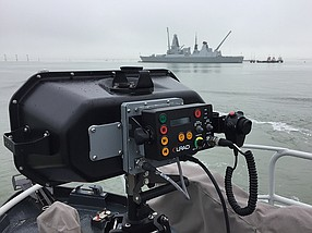 Photo courtesy of Genasys. Genasys is providing its model LRAD 450XL acoustic hailing device to the U.S. Army under a multiple year, $110 million contract.