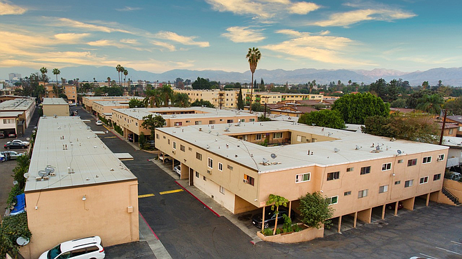 Valerio Village Apartments at 14420-14432 Valerio St. in Van Nuys.