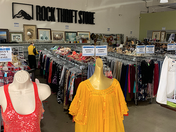 Photo courtesy of Rock Thrift Store. Since the pandemic, the Rock Thrift Store has experienced not only an uptick in donations but also in the number of shoppers it has welcomed since reopening May 22.