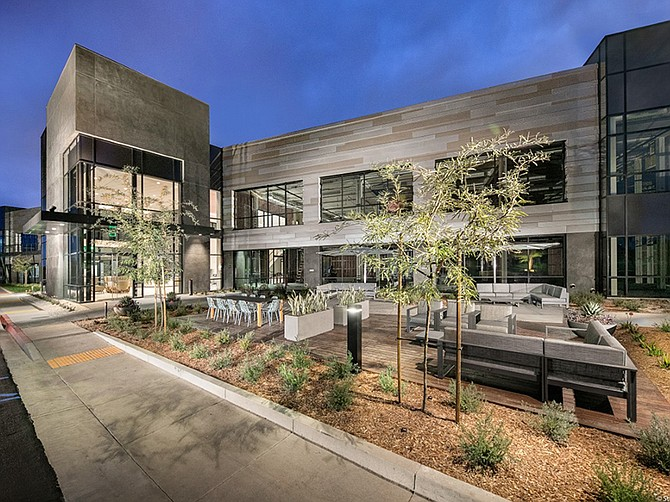 Photo courtesy of JLL. AnaptysBio leased 45,056 square feet in this renovated Sorrento Mesa building.