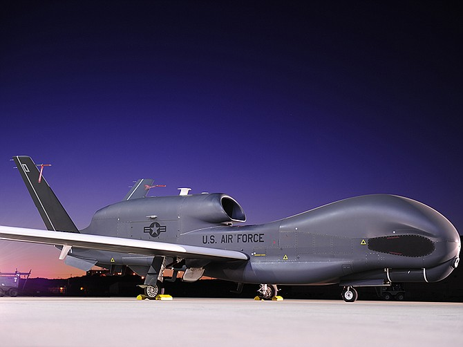 Photo courtesy of Northrop Grumman Corp. Northrop Grumman builds and services the Global Hawk unmanned aircraft. The company recently received a $12.6 million contract to sustain such aircraft in South Korea.
