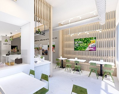 A rendering of the future Juice It Up on 17 Street in Costa Mesa