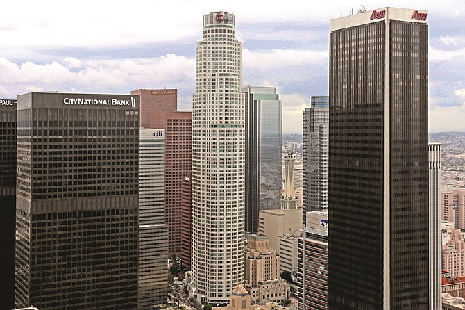 U.S. Bank Tower stands 70 stories.