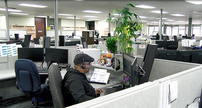 The EDD call center in May, when L.A. County had 20.9% unemployment.