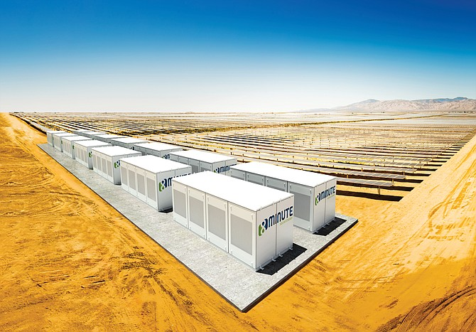 A rendering of an 8minute Solar energy facility.