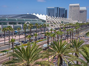 Photo courtesy of f San Diego Convention Center Corporation. The San Diego Convention Center Corporation has over 30 conferences scheduled between September and the end of the year.