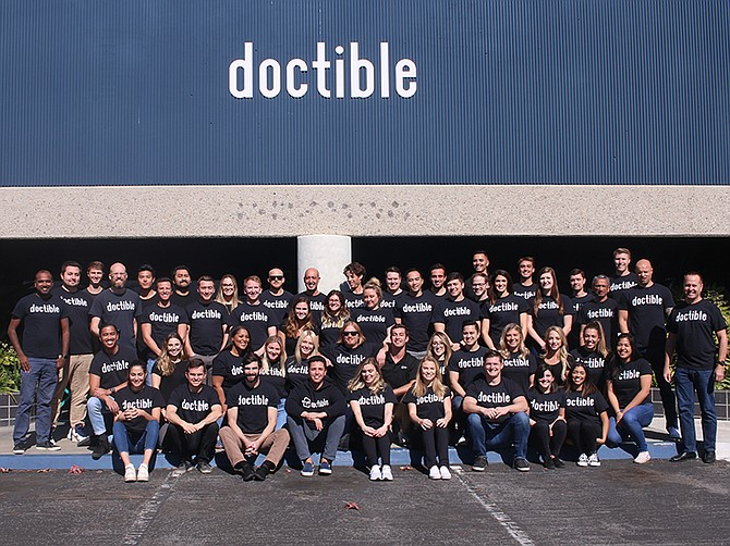 Photo courtesy of Doctible. Over the last four years, Doctible has grown from 14 to 55 employees.