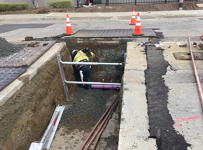 The completed pipeline in Torrance will save 1 million gallons of drinking water per year.