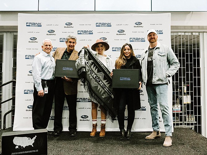Photo courtesy of Sackcloth & Ashes. In February, Sackcloth & Ashes partnered with Frank Subaru to donate to local homeless shelters.