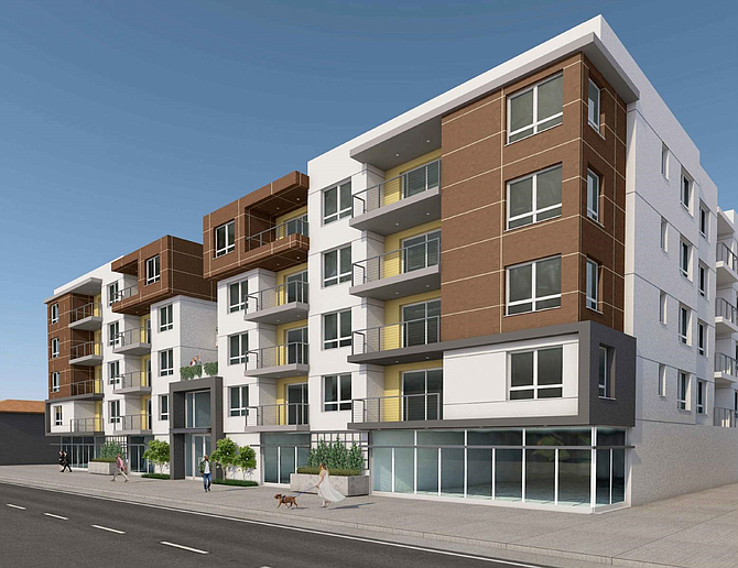 Rendering of project at 8940 Reseda Blvd. in Northridge.