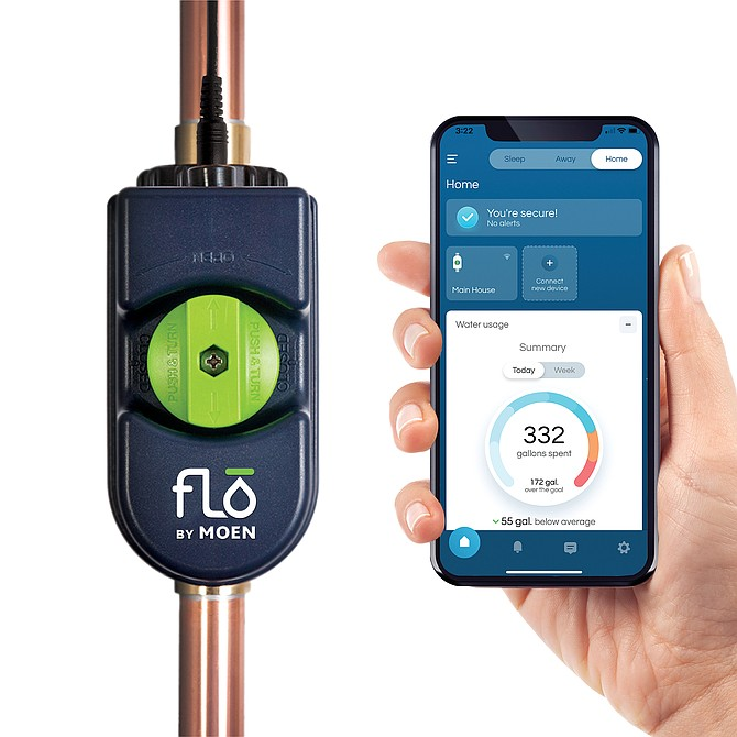 Flo and Moen collaborated on a smart water detector and app.