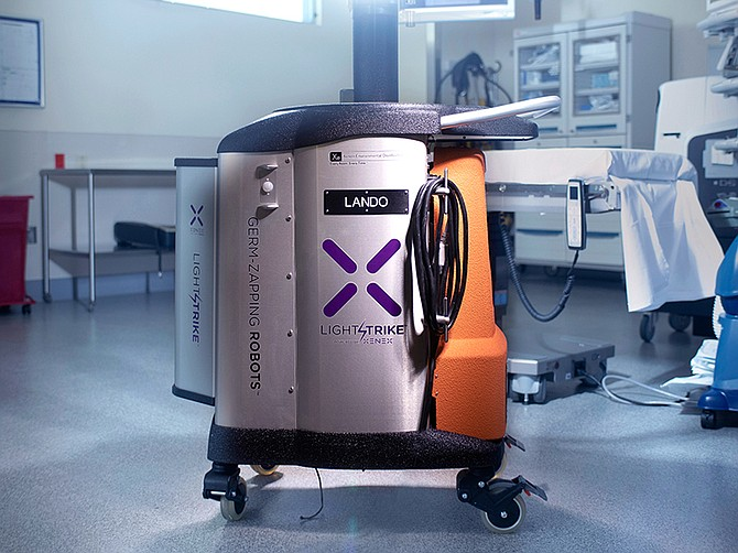 Photo courtesy of Xenex Disinfection Services Inc. The germ-zapping robots are being used by a handful of San Diego-based hospitals, including Sharp Grossmont.