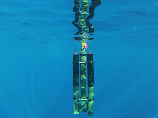 Seatrec's SL1 thermal energy harvesting modules are tested off the coast of Kona, Hawaii.