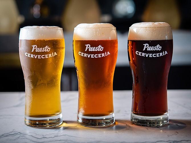 Photo courtesy of Puesto. Puesto offers several varieties of beer.