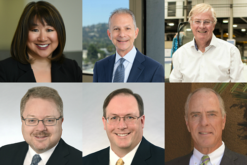 From top-left to right: Lei Lei Wang Ekvall - Smiley Wang Ekvall, LLP | Byron Z. Modo - Ervin Cohen & Jessup LLP | Harry Moore - NMS Consulting | Uzzi O. Raanan - Danning, Gill, Israel & Krasnoff LLP | John N. Tedford IV - Danning, Gill, Israel & Krasnoff LLP | Dean G. Rallis Jr. - Hahn & Hahn