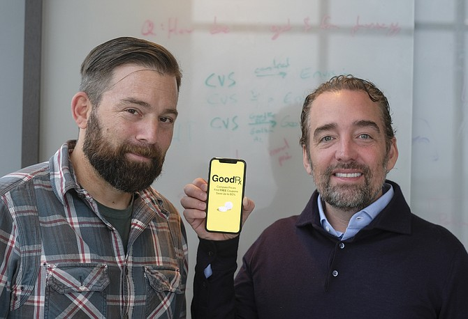 GoodRx co-founders and co-CEOs Doug Hirsch and Trevor Bezdek.
