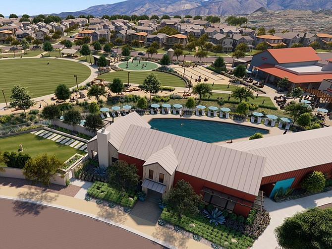 Rendering courtesy of Touchstone Communities. Park Circle in Valley Center is going up on a former dairy farm site.
