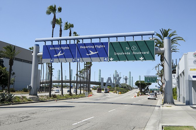 Passenger traffic at L.A. airports fell 58% in the first six months of 2020.