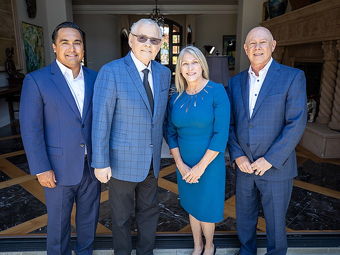 Peter Mendiola, CEO; Steve Games, President Global Luxury Division; Penny Nathan, Corporate Broker; Cory Shepard, General Manager
