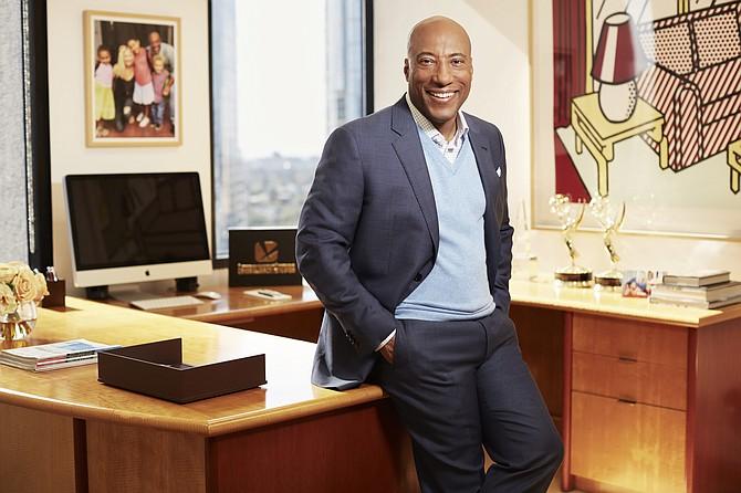 Byron Allen in his office.