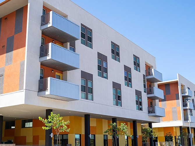 Photo courtesy of the San Diego Housing Commission. A $24.7 million affordable housing project has been built in Encanto south of the 94.