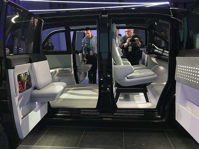 """Canoo calls its electric vehicle a """"loft on wheels"""" that lowers the car's center of gravity and maximizes interior space."""