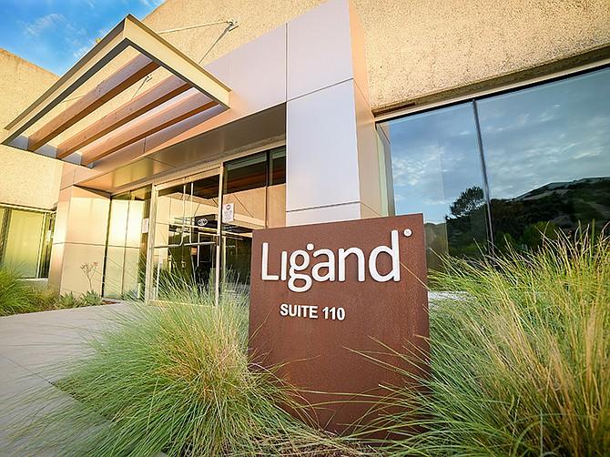 Photo courtesy of Ligand Pharmaceuticals. The headquarters of Ligand Pharmaceuticals is located in Sorrento Valley.
